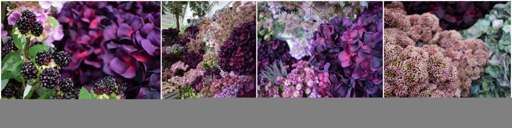 deep purple artificial flower range