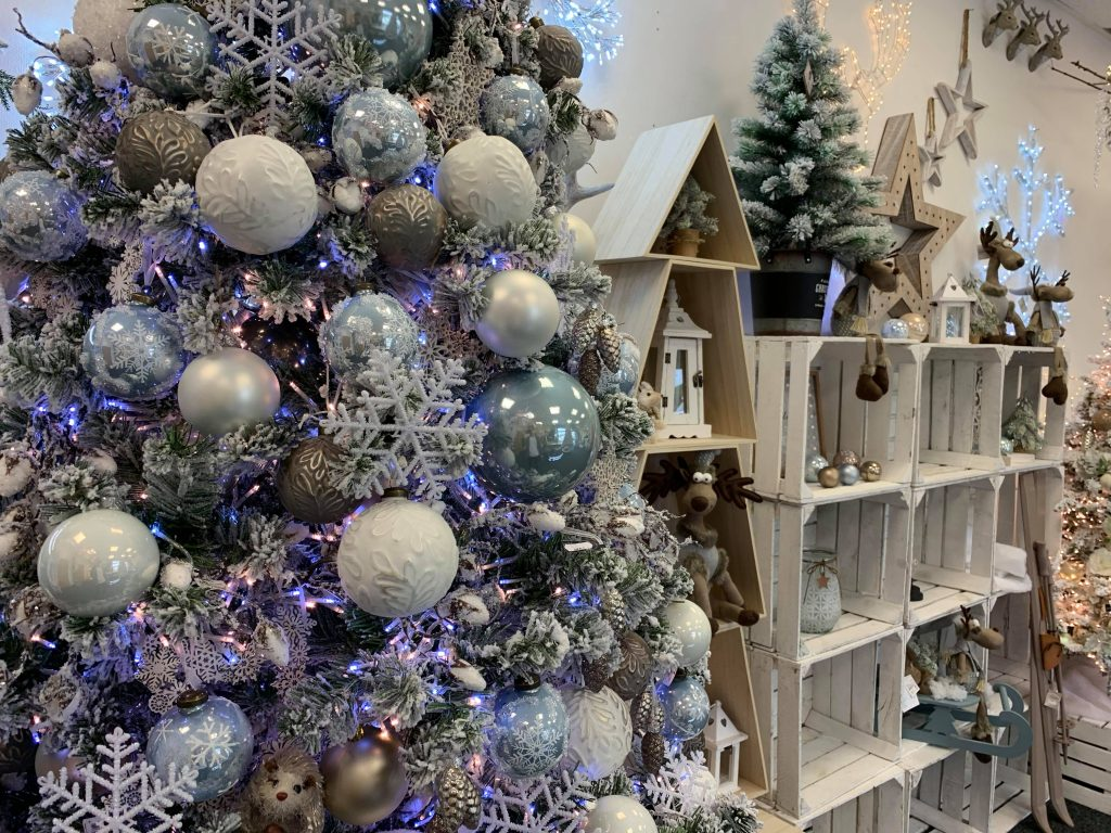 blue mist christmas decorations range