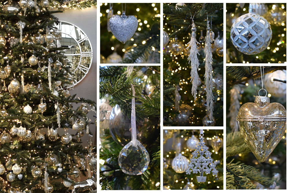 white christmas decorations range