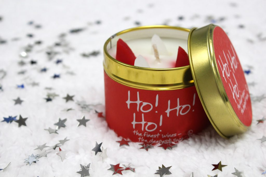 Lily Flame Ho Ho Ho Scented Christmas Candle in a Tin