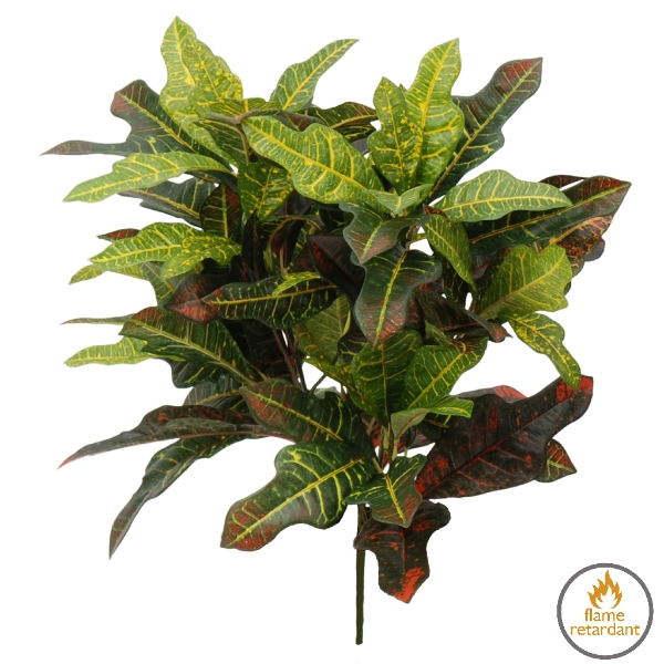 Artificial Croton Foliage flame retardant plant