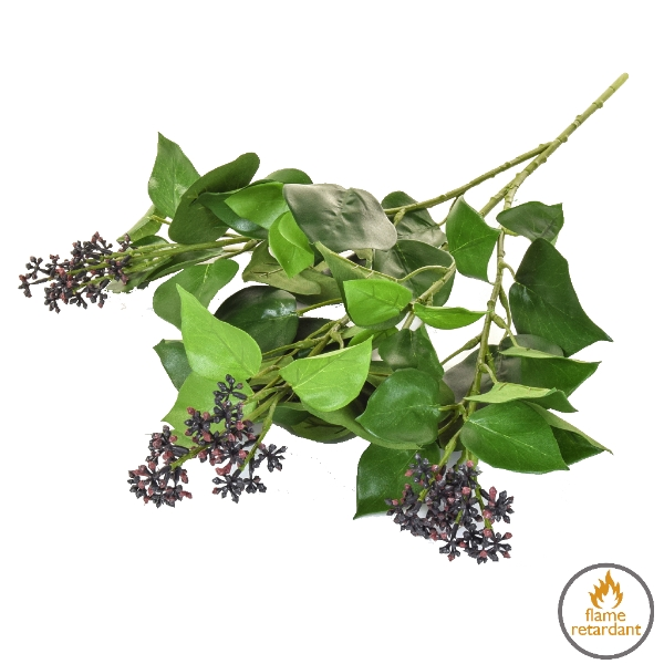 Artificial Ivy with Burgundy Buds flame retardant plant
