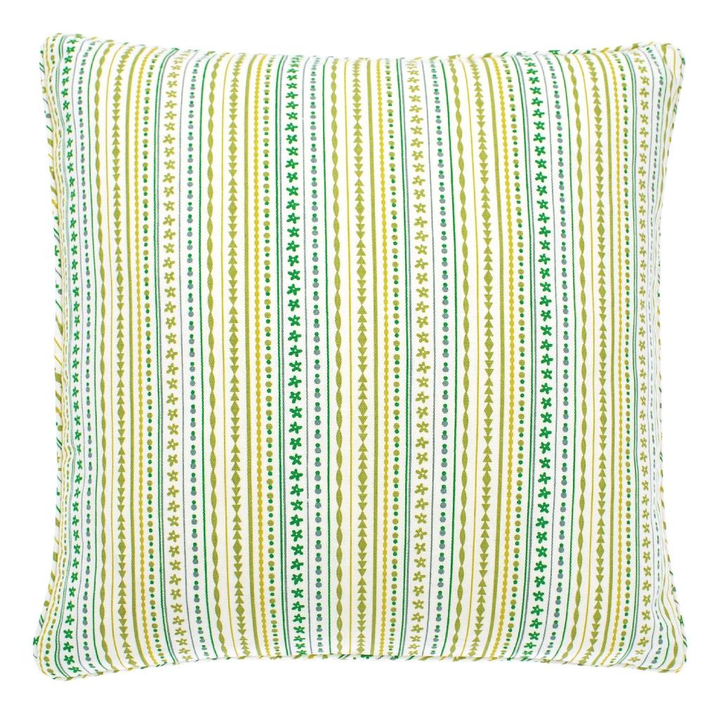 Kew Cushion Spring Green & White