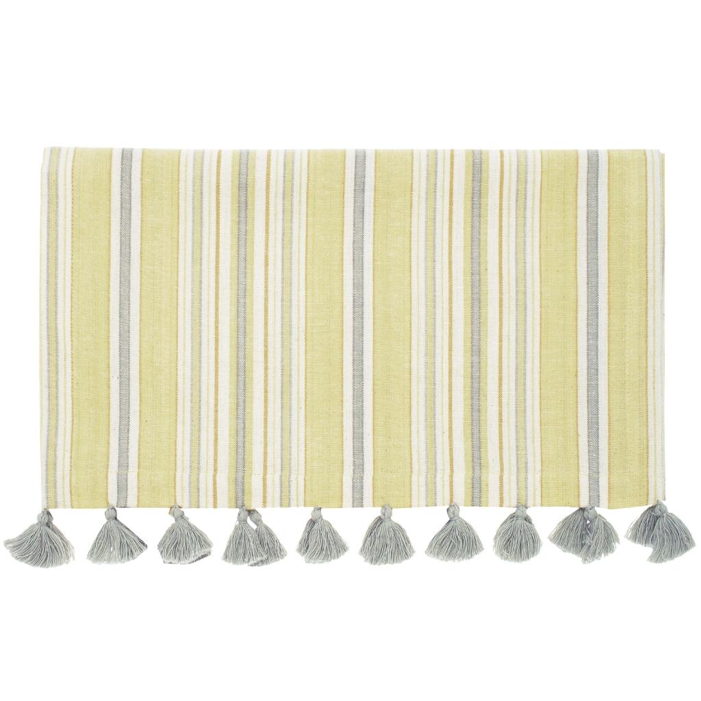 Lemon Grass Table Runner with Tassels