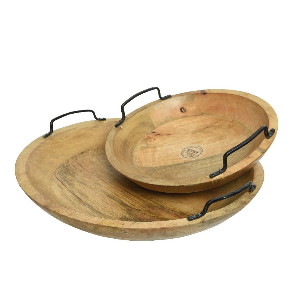 Mango Wood Round Trays