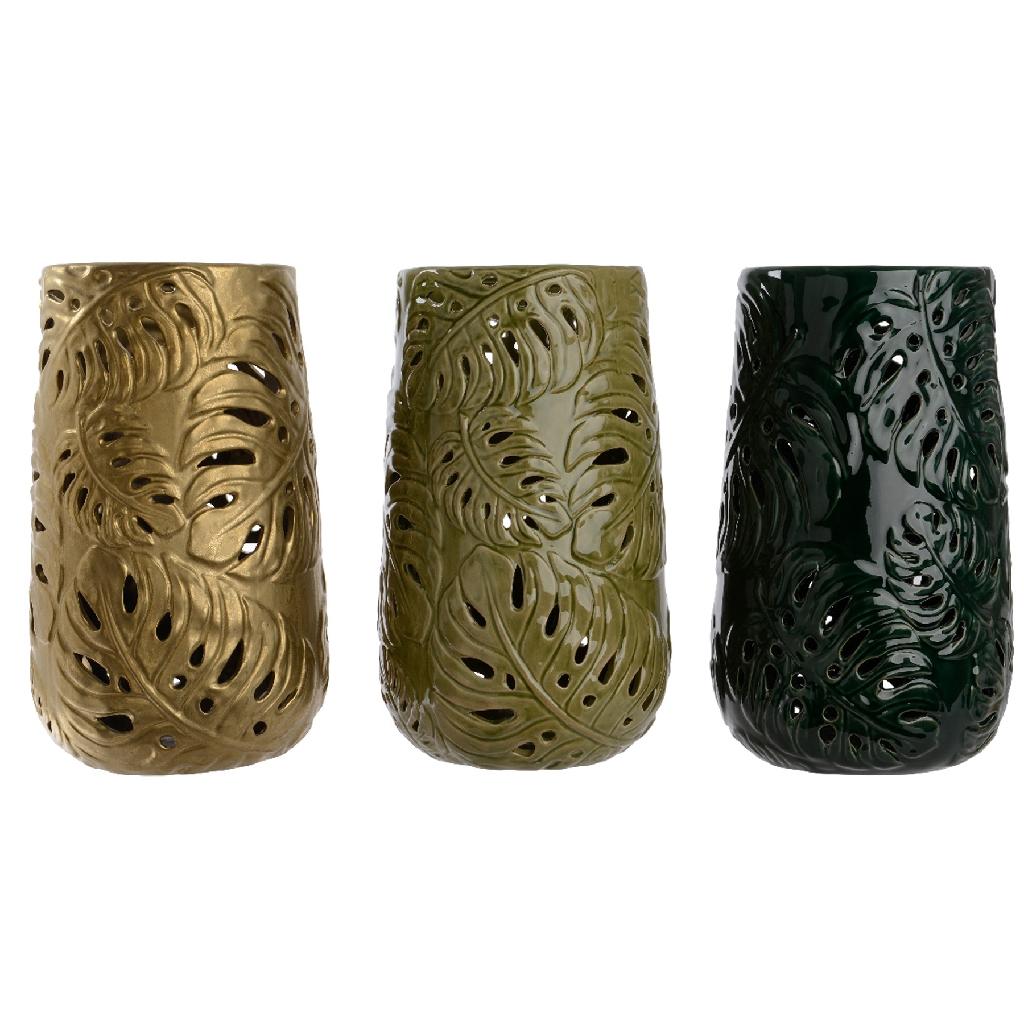 Metallic Hurricane Vase Assorted Colours