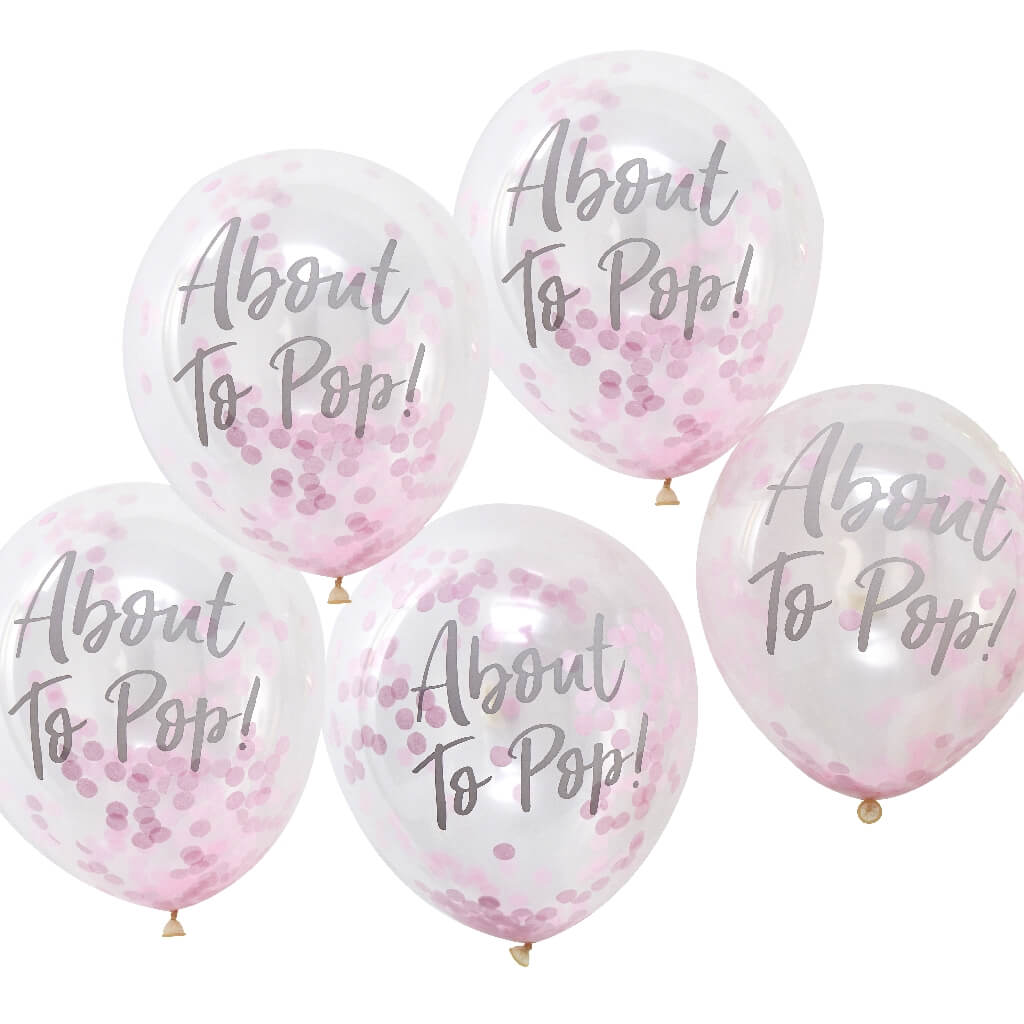 About to Pop Baby Shower Balloons