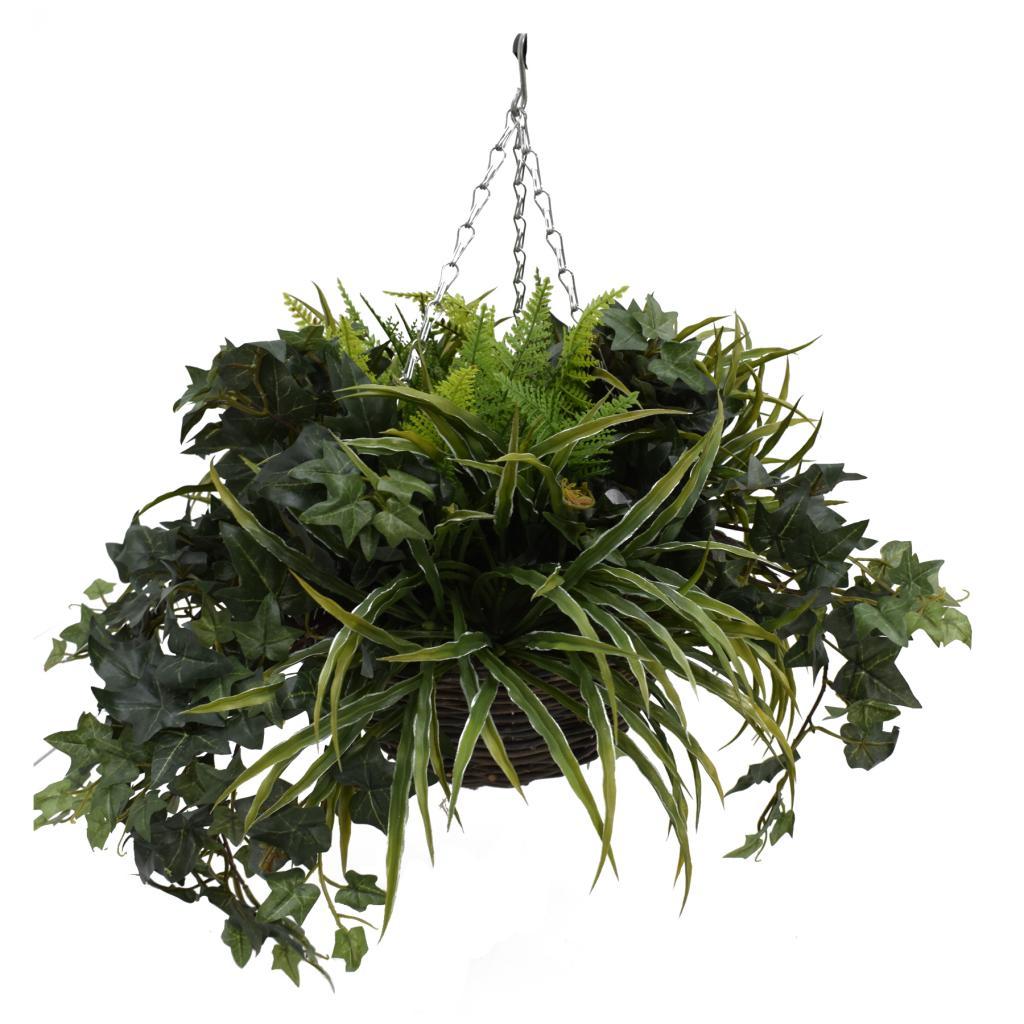 Artificial Hanging Basket - Foliage