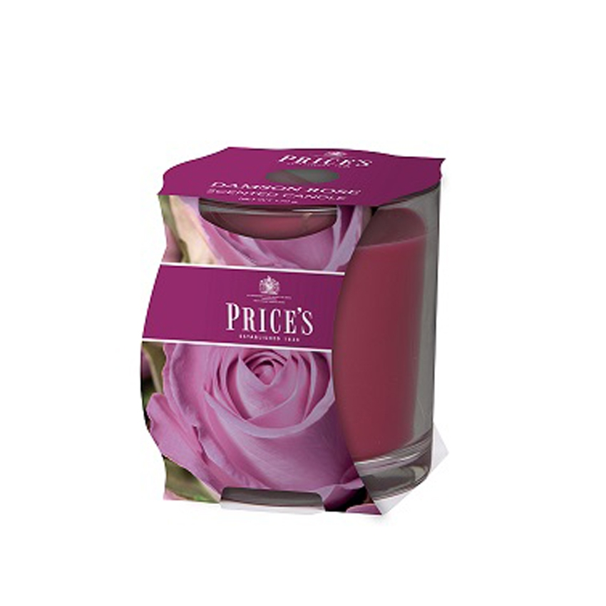 Price's Damson Rose Cluster Jar Candle