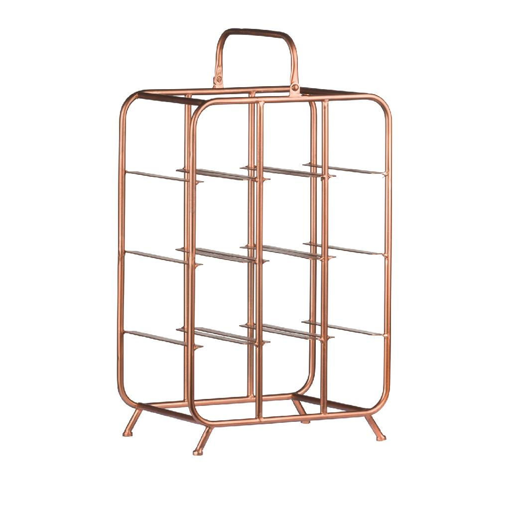 industrial style interior - Industrial Inspired Copper 9 Bottle Wine Holder 60cm