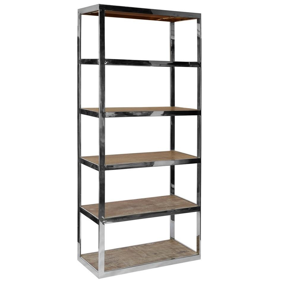 industrial look interiors - St Lucia 6 Shelf Bookcase by Olore Home