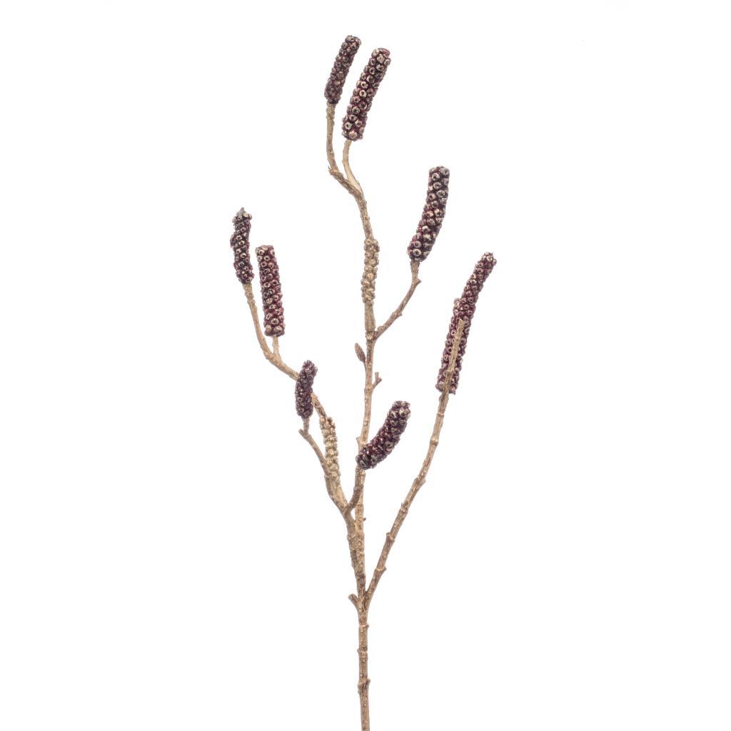Artificial Callistemon Branch Burgundy 85cm