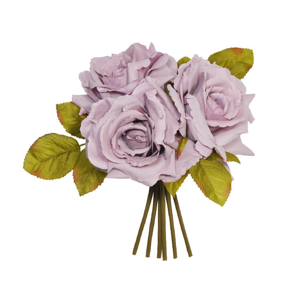 Artificial Open Rose Mauve