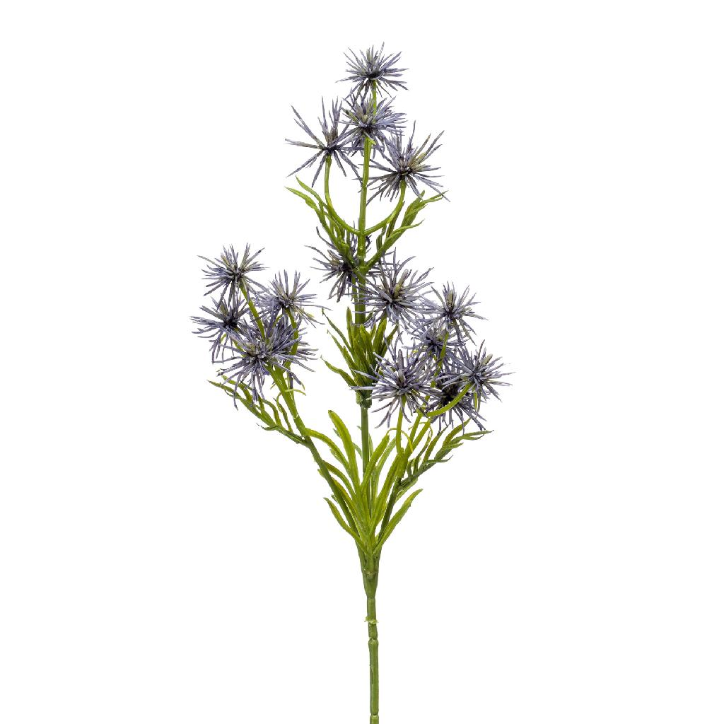 Artificial Thistle Spray Blue