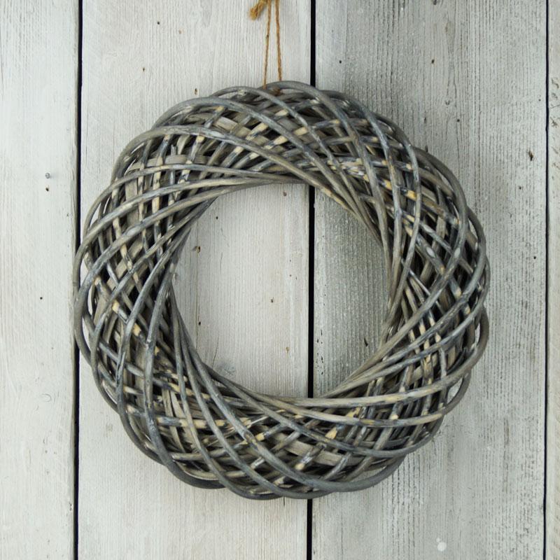 Wicker Wreath Greywash for autumn wreath