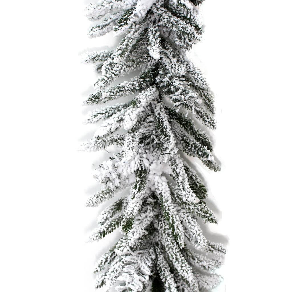 snow flocked noble christmas garland 6ft