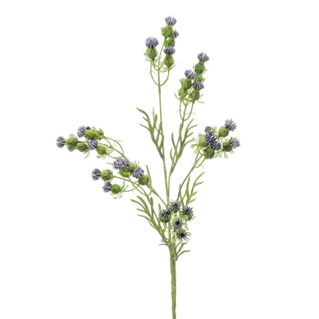 artificial carthamus spray blue
