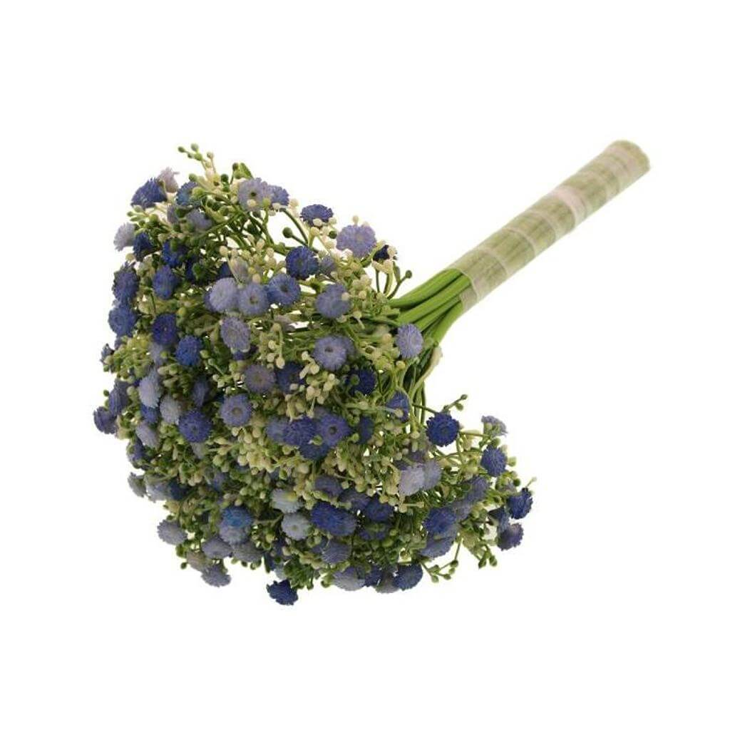 artificial gypsophila bunch blue