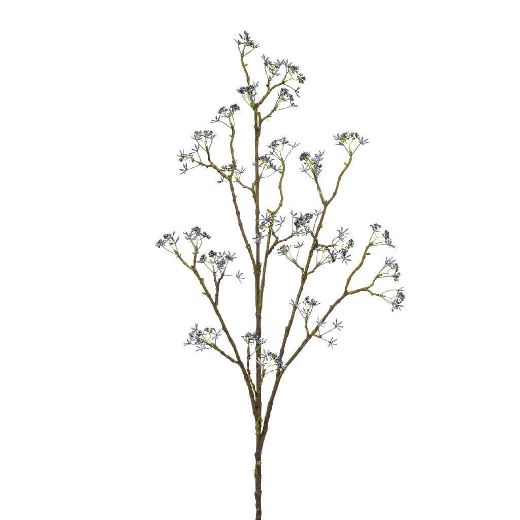 artificial misty flower branch blue