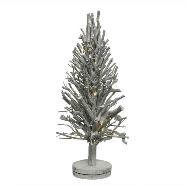 branch tree battery operated micro 30 warm white led grey wash 57cm light up christmas decoration