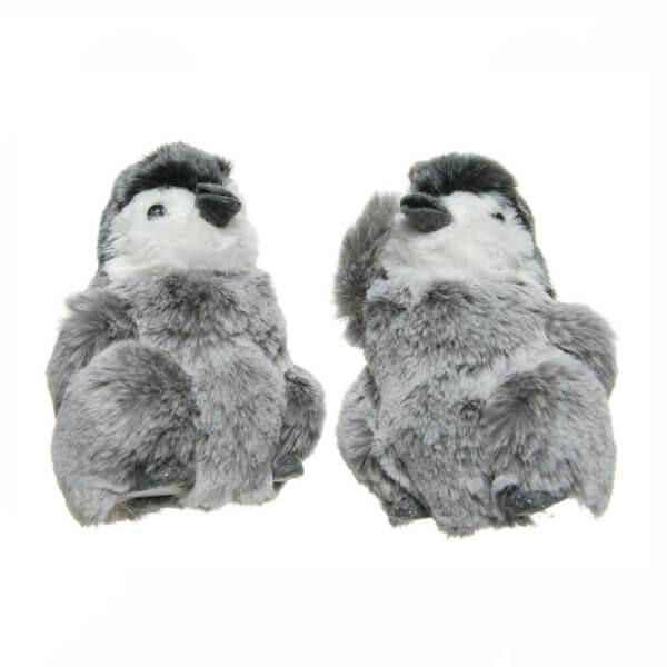 plush baby hanging penguin grey 13cm christmas