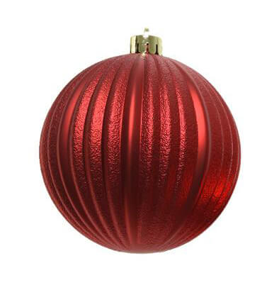 shatterproof christmas red bauble 10cm mix pack of 3 christmas