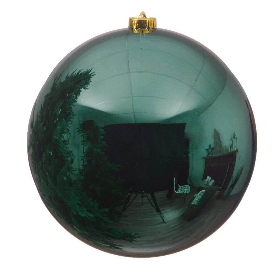 shatterproof petrol blue teal bauble 14cm blue christmas theme
