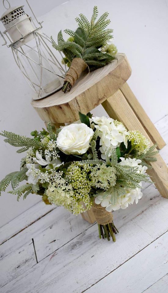 Inspirations Wholesale soft neutrals artificial flower bouquet