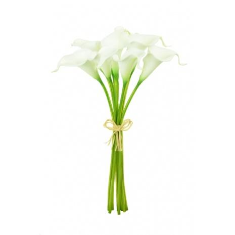 artificial calla lily white - soft neutral floral trend 2020