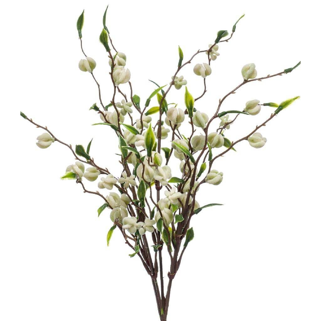 soft neutral floral trend 2020 - crab berry bush in white