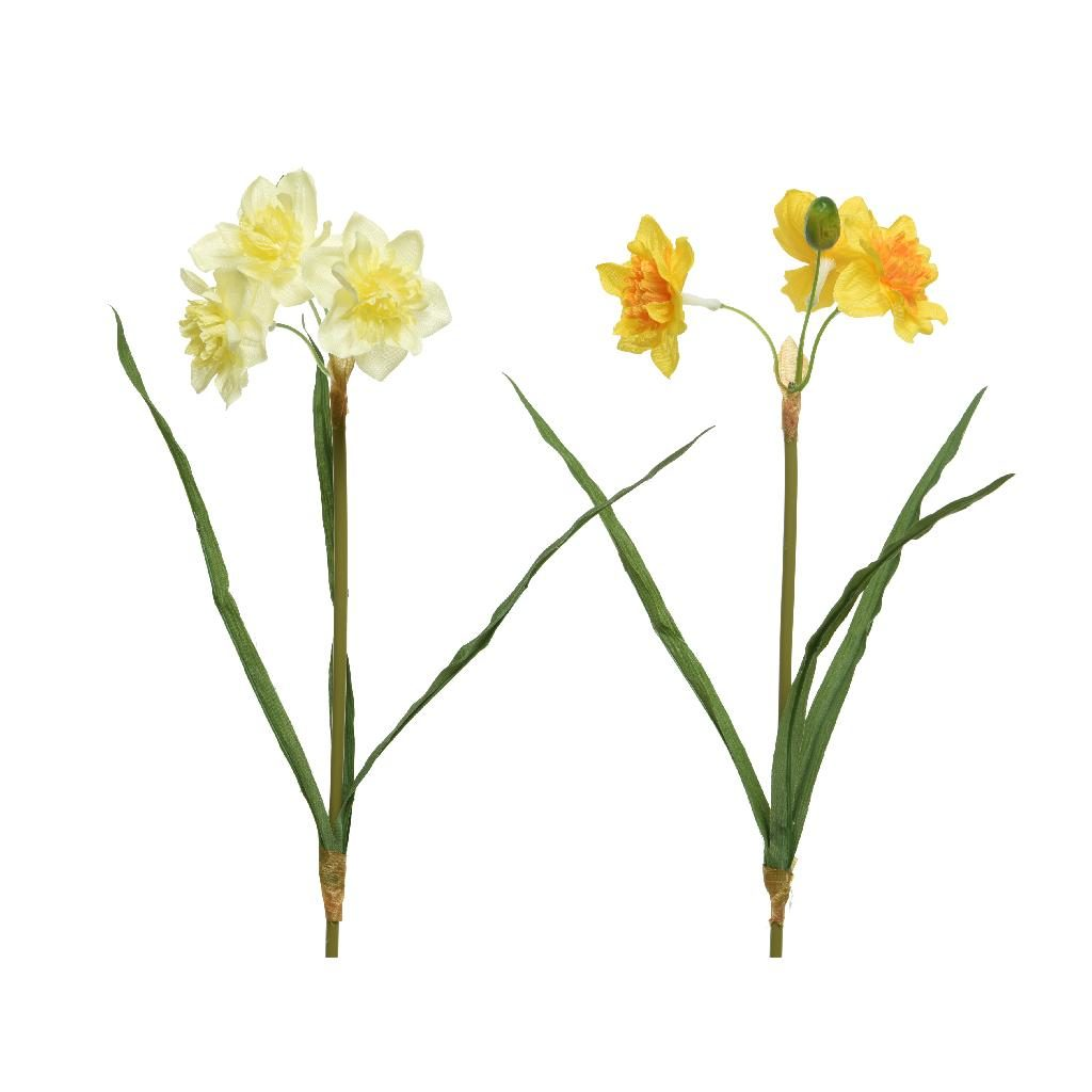 yellow artificial daffodils - 70's pyfloral trend