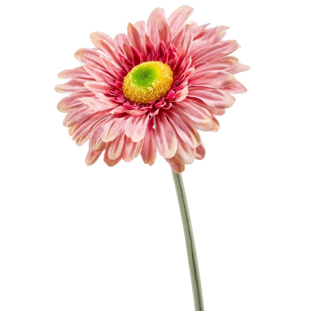 pink gerbera artificial - 1970's floral arrangement trend