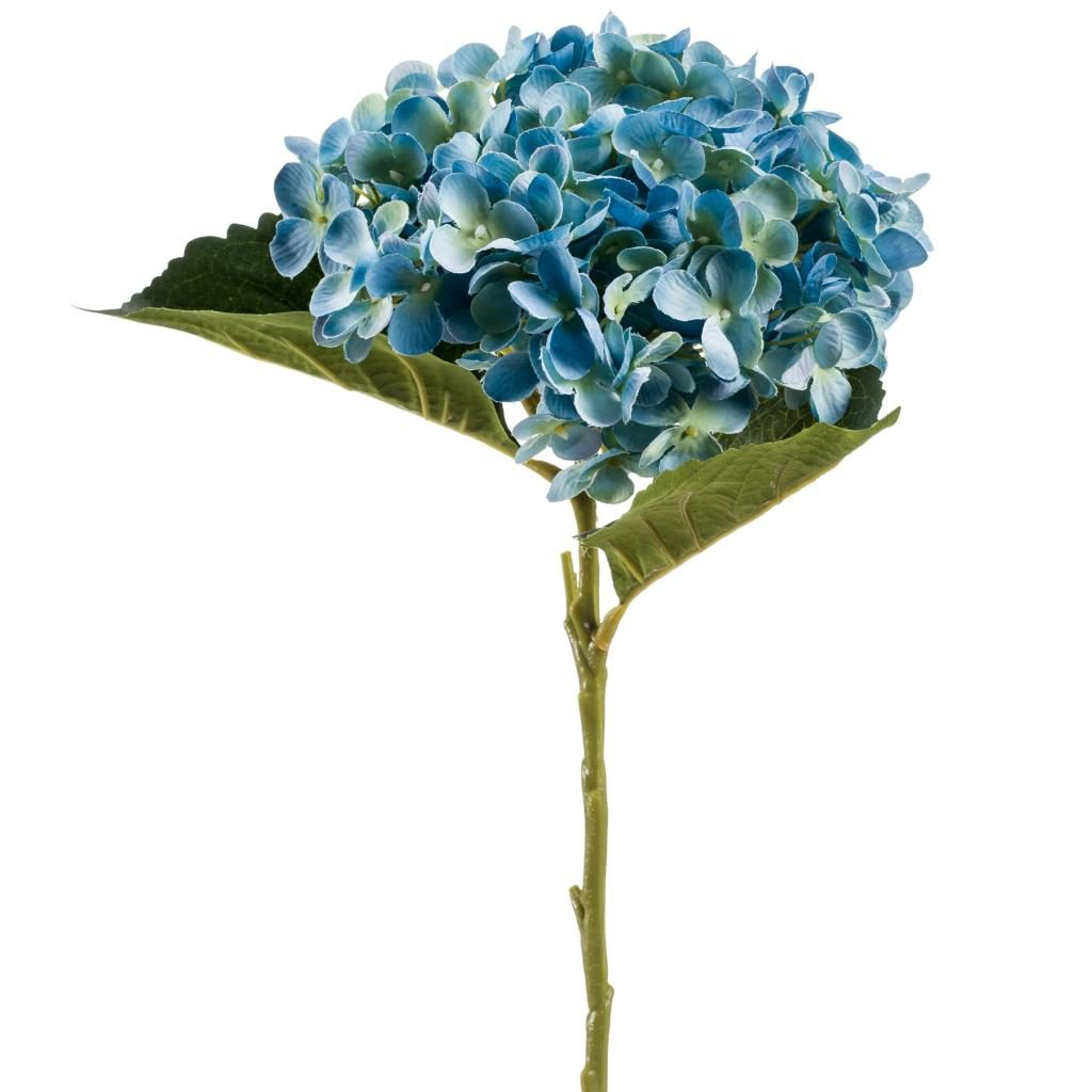 hydrangea blue - artificial - 70's floral trend bright and bold