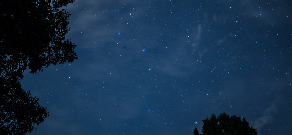 dark blue night sky with stars