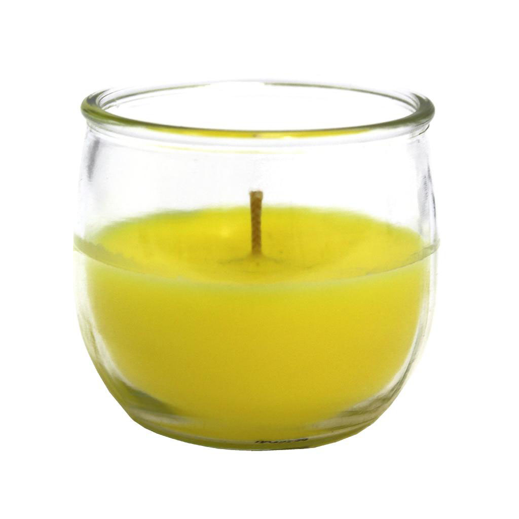 citronella candle in glass jar
