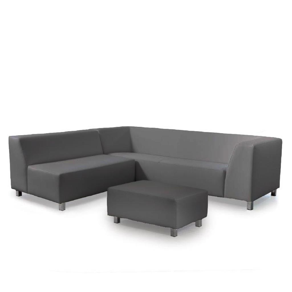 cosi sofa - vienna outdoor vienna in grey with stool