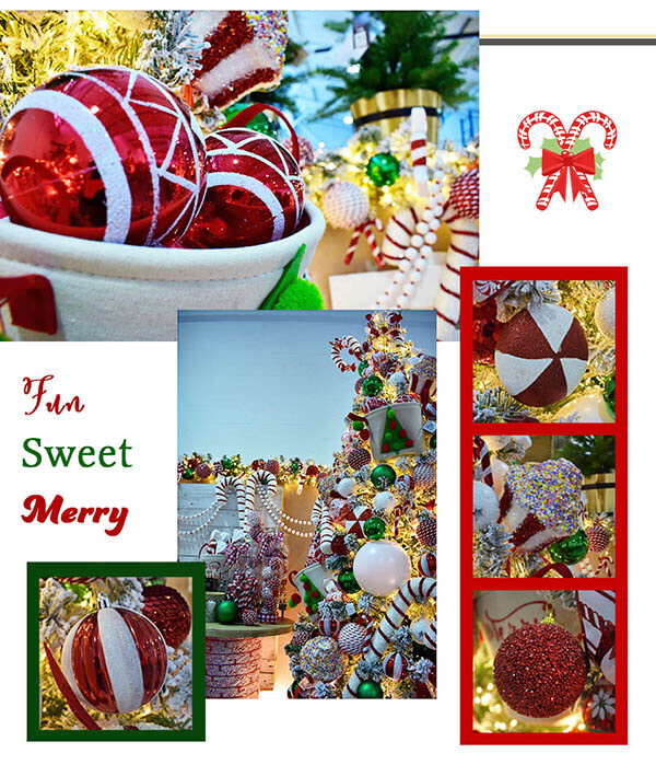 fun sweet merry - faux candy canes and sweet christmas decorations