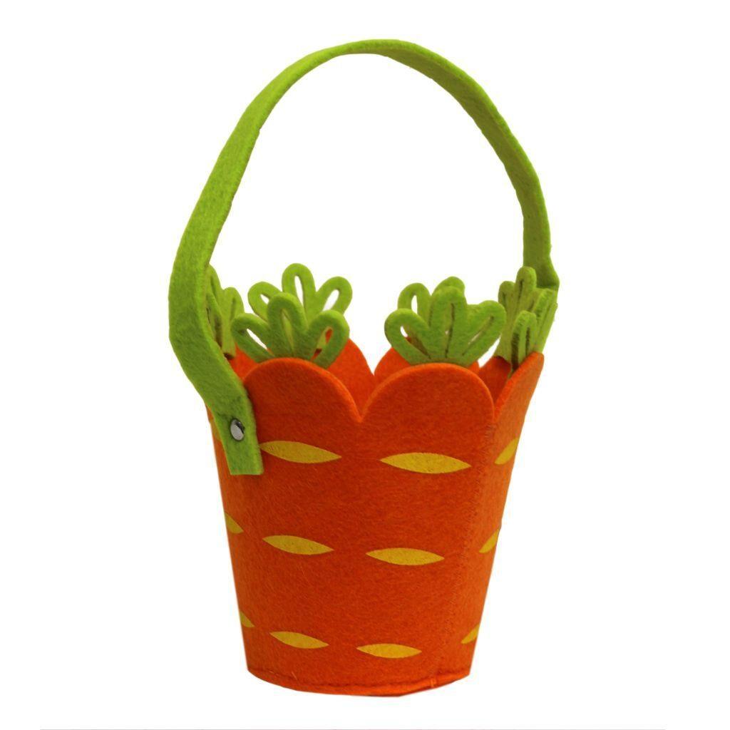 carrot felt easter egg hunt bucket