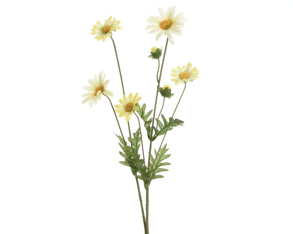 65cm artificial daisy spray white