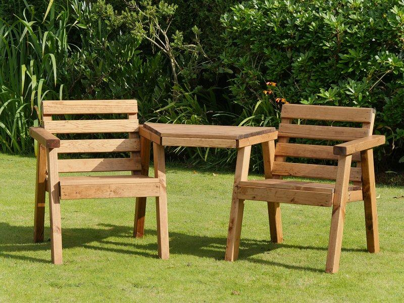 RSPB wooden loveseat chairs garden seating