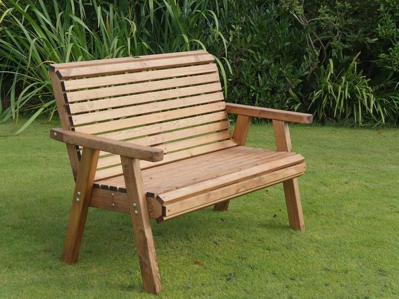 RSPB wooden 2 seater bench garden seating