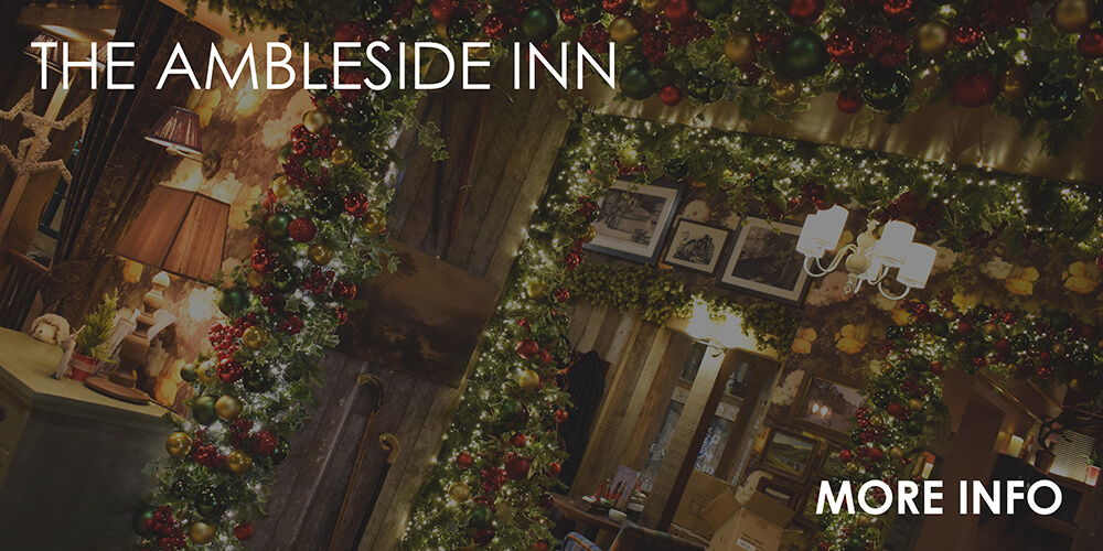 Ambleside Inn - pub commercial christmas decorating service