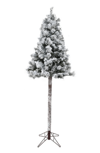 Festive Fir on Pole Snow Flocked Christmas Tree