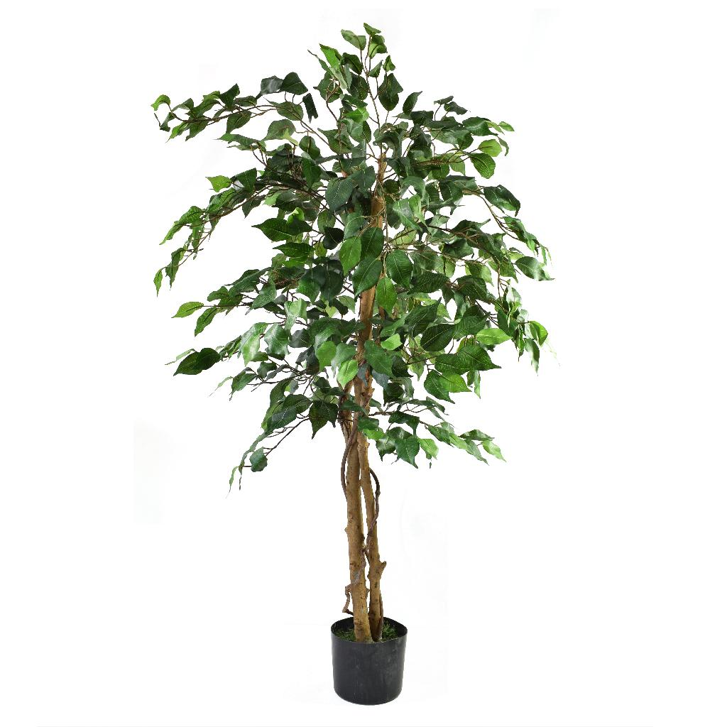 Artificial Ficus Tree Green 4ft Indoor Artificial Tree By Olore Home 25 99 Inspirations Wholesale