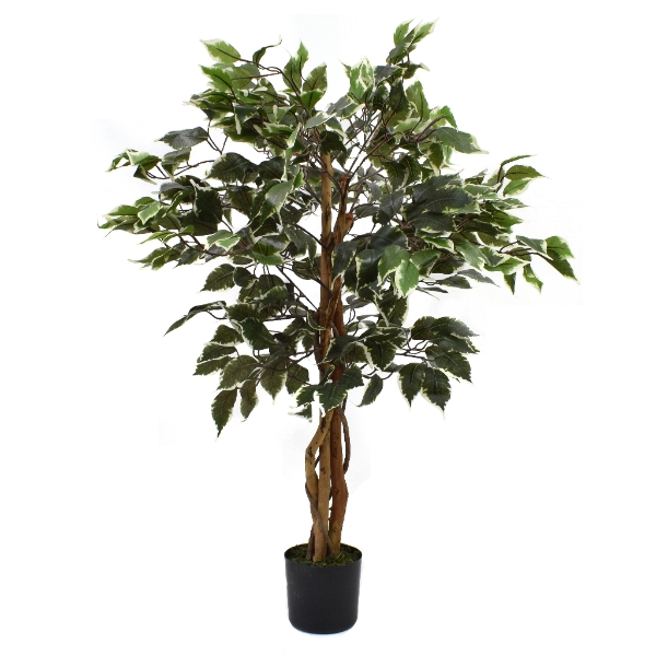 Artificial Ficus Tree Variegated 3ft Indoor Artificial Tree By