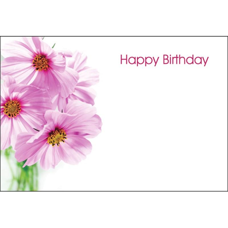 oasis happy birthday pink flowers gift card x 50  £125
