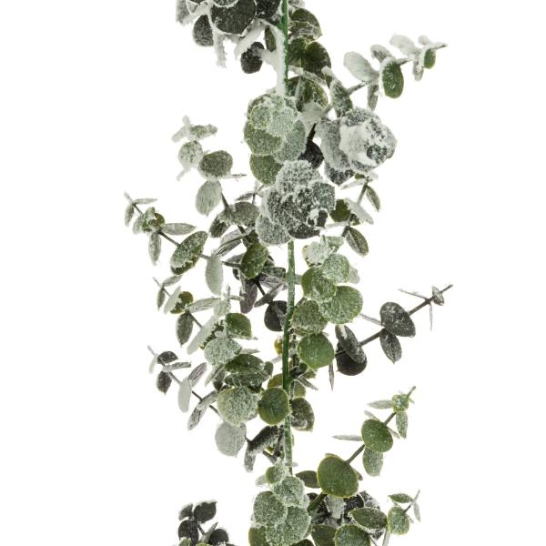 Snowy Spiral Eucalyptus Christmas Garland 6ft