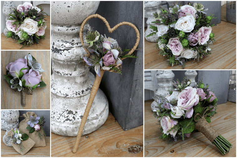 Rustic Theme Artificial Wedding Flower Arrangements