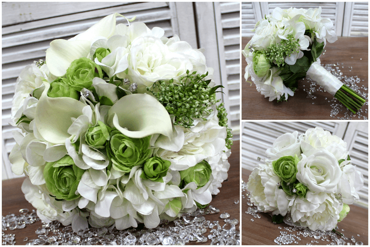 White Artificial Wedding Flower Arrangements
